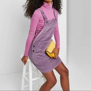 Wild Fable, purple, ribbed corduroy overall dress